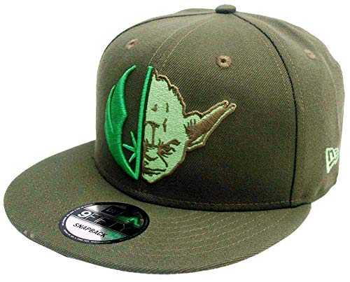 New Era Star Wars Yoda Split Logo New Olive Snapback Cap 9fifty 950 OSFA Limited Exclusive Edition