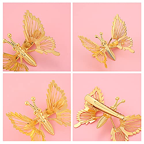Butterfly hair clips with moving wings _image2