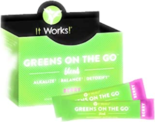 It Works ~ GREENS ON THE GO™ – BERRY ALKALIZE† – BALANCE† – DETOXIFY† 30 (4.25 g) Single Serve Packets