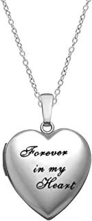 forever in my heart locket keychain