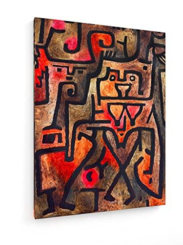 weewado Paul Klee - Waldhexen - 1938 75x100 cm Impresión en Lienzo Textil - Muro de Arte - Old Masters/Museum