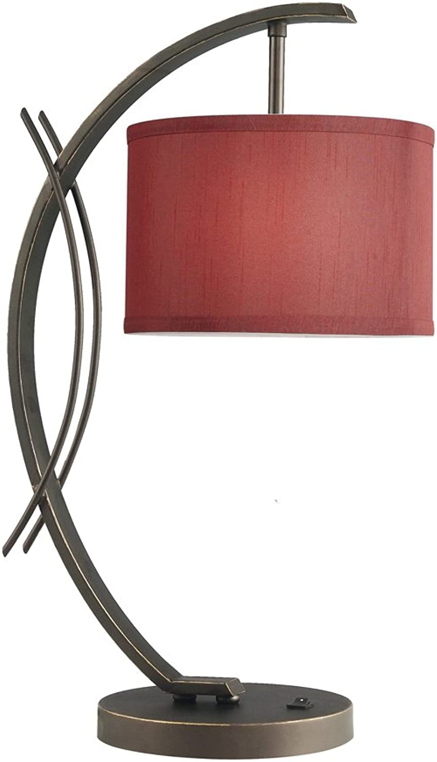 Woodbridge Lighting 13481MEB-S10803 Eclipse 1-Light Table Lamp, 7-1 2-Inch by 21-3 4-Inch, Metallic Bronze