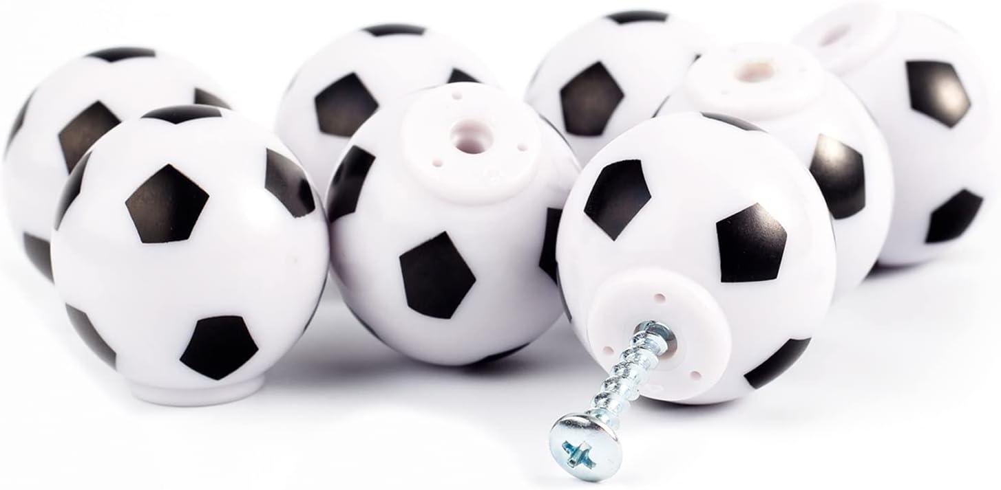 Football Knobs Cabinet Wardrobe Dresser Drawer Handles Sports Theme Living Room Bedroom Home Decorate Pulls Set of 8