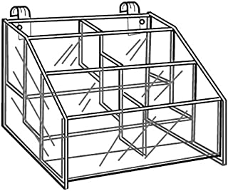 The Competitive Store Clear Acrylic Gridwall Tray Display A Variety of Small Items 12 W x 8 D x 2 H