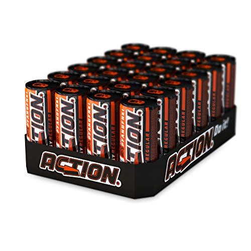 ACTION Energy Drink Regular PFANDFREI, 24 x 250 ml, Innovative Rezeptur, 24 Dosen