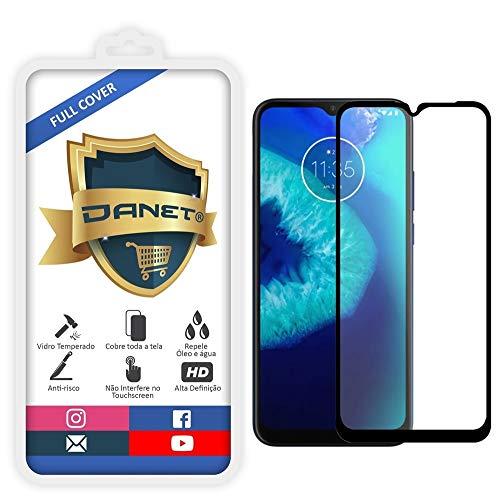 """Película De Vidro Temperado 3D Full Cover Para Motorola Moto G8 Power Lite com Tela de 6.5"""" Polegadas - Proteção Blindada Top Premium Que Cobre Toda A Tela - Danet"""