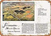 2個 8 x 12 cm メタル サイン - 1928年スチュードベーカー ミリオン ダラー プルーフ グラウンド メタルプレート レトロ アメリカン ブリキ 看板
