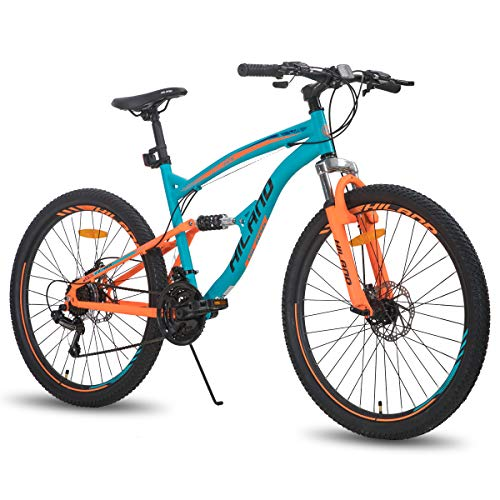 Hiland 26 Inch Mountain Bike for Men 21-Speed MTB Bicycle 18 Inch Dual-Suspension Urban Commuter City Bicycle Blue&Orange