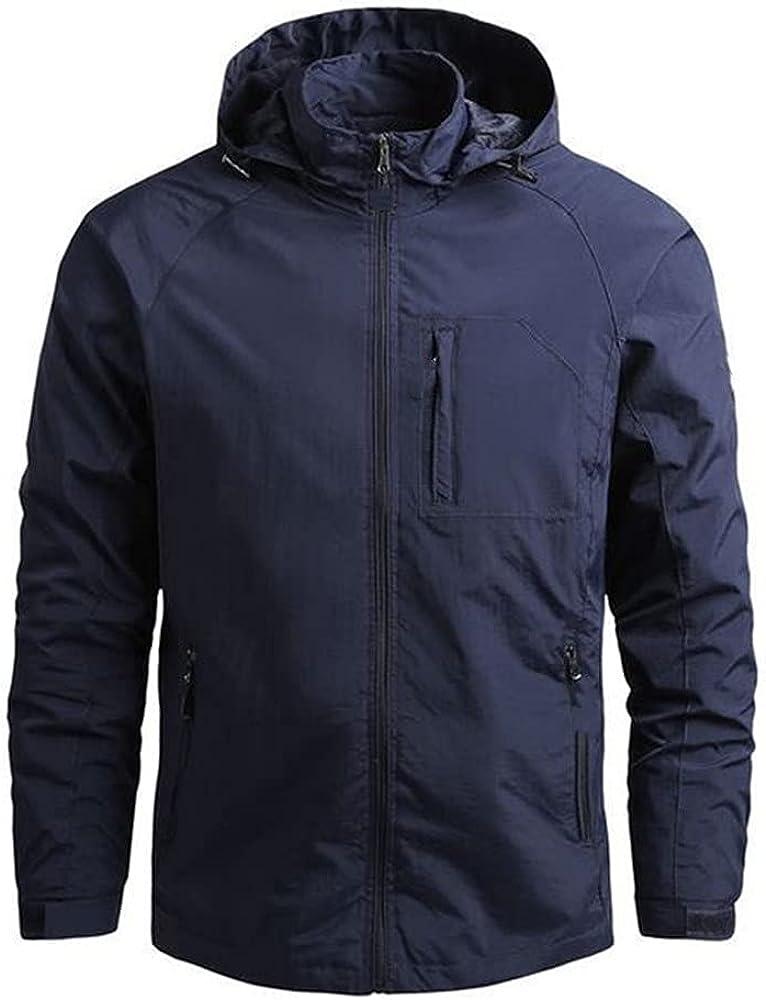 Autumn spring streetwear aviator windbreaker jacket men's hooded