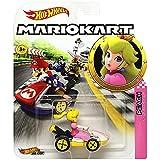 Hot Wheels Princess Peach Standard Kart Super Mario Kart Character Car Diecast 1:64 Scale