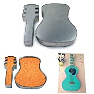 Two Piece Large Guitar Shape Cake Tin Pan for Birthday Novelty Fun Cake Mold (Mould) by Hufsy