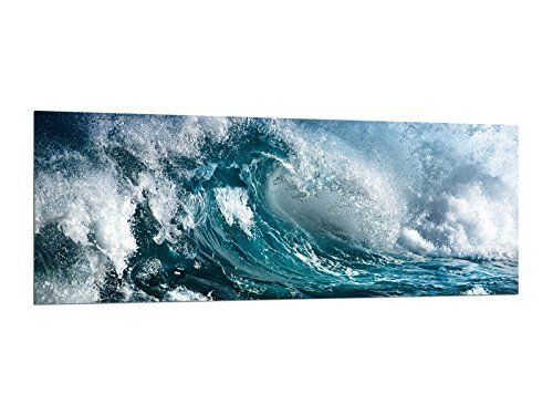 Glasbilder Wandbilder 125 x 50cm Ozean Wellen AG312502467 / Deco Glass, Design & Handmade/Eyecatcher, Kunstdruck!