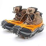GOYAN 12 Dientes Multifunción Antideslizante Crampones, Nieve Hielo tracción de Zapatos Arranque Tacos Calzado para Hombres, Mujeres niños Escalada/Trotar/Montañismo/Cámping