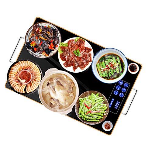 Warmhalteplatte Tellerwärmer Elektrisch, Warmhalteplatten für Speisen, Speisewärme-System für Unterschiedliche Speisen, Einstellbare Temperatur, 40-120 ℃