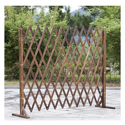 WXQ Gartenzaun Dekorative Adjustable Faltbare Picket Fechten Trennwand aus Holz Blumenständer, 3 Größen (Size : 165X80CM)