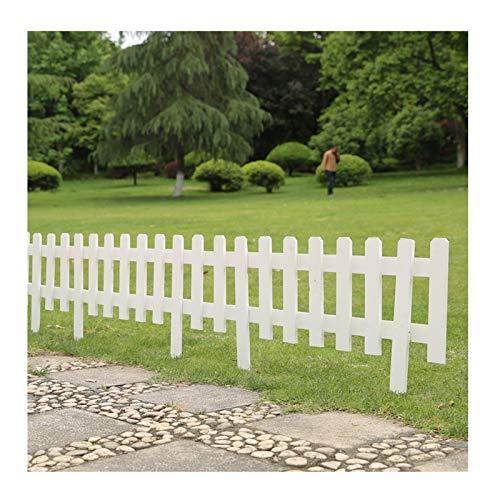 JIANFEI-Valla de jardín Valla De Madera, Al Aire Libre Huerto Decoración Pequeña Valla, Patio Animales Barrera Extendido Parque Camino Embellecer Partición 2 Colores