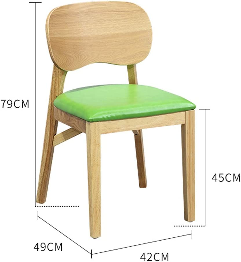 Président WGZ- Chaise de Salle, Chaise de Bureau Simple, créative Dossier, Chaise Loisirs, Maison Adulte Chaise de Salle Simple (Color : Pink) Green