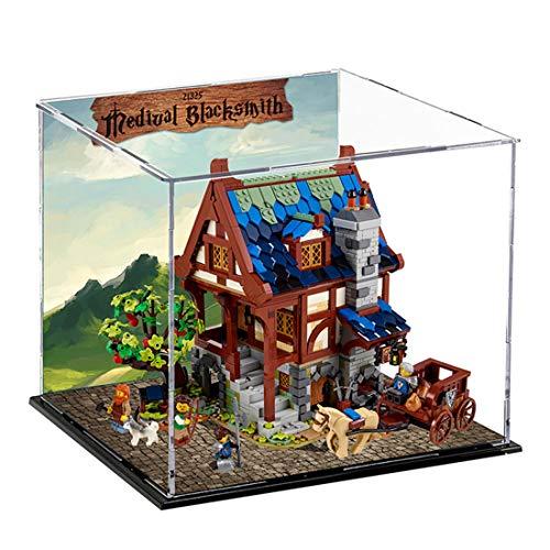 SEREIN Acryl Vitrine Display Case Schaukasten Showcase Kompatibel mit Lego Mittelalterliche Schmiede 21325 (ohne Lego Set)