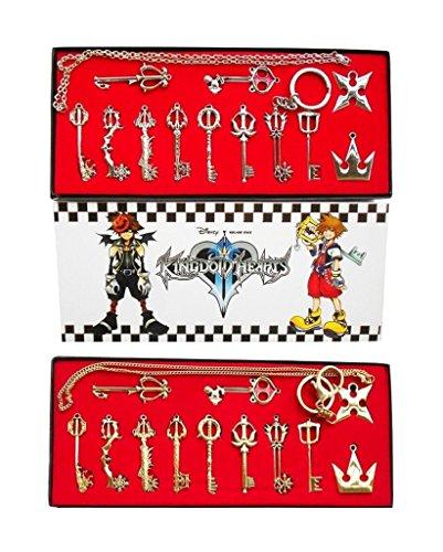 Kingdom Hearts II 12unidades. Disfraz utilería Llave Espada Colgante Llavero Cadena Cadena