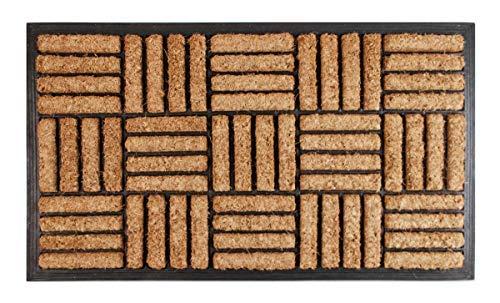 Spetebo Kokos Fußmatte 75x45 cm - Schmutzfangmatte Fußabtreter Türmatte Türvorleger Außen