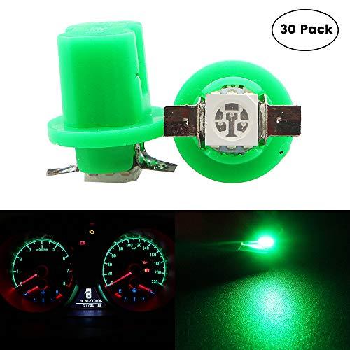 EverBrightt 30-Pack Green B8.5 5050 1SMD LED Car Instrument Lamp Dashboards Gauge Lamp DC 12V