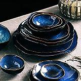 YWSZJ 2/4 Persona Setware Set de vajilla Azul Cerámica Cerámica Forma Irregular Cena Conjunto Platos Placa (Color : Style One)