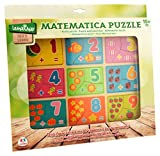 Globo Toys Globo–3770030x 22,5x 0,8cm Legnoland Puzzle de Madera con números