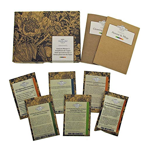 Exotische Pflanzen - Samen-Geschenkset mit 6 besonderen Nutzpflanzen der Tropen & Subtropen