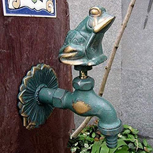 Kit de grifo al aire libre grifo de jardín grifo al aire libre grifo de jardín con forma de animal con fregona de lavado de rana de bronce / grifo de riego de jardín