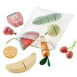 Howa Schneideset Obst und Gemüse mit Schneidbrett, Holzmesser, Netz und Aufbewahrungsbox 13tlg. 4891