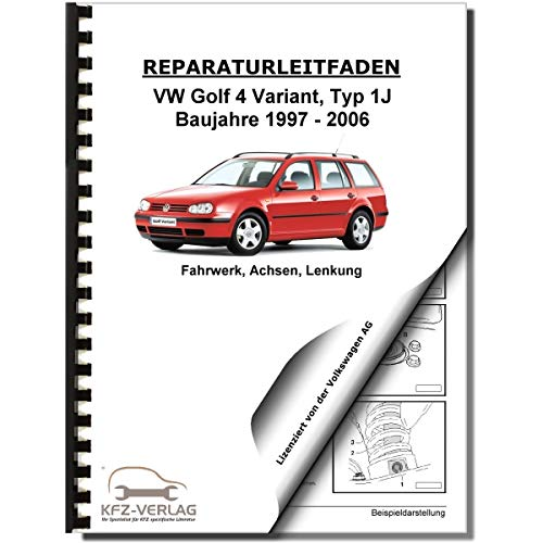 VW Golf 4 Variant 1997-2006 Fahrwerk Achsen Lenkung FWD AWD Reparaturanleitung