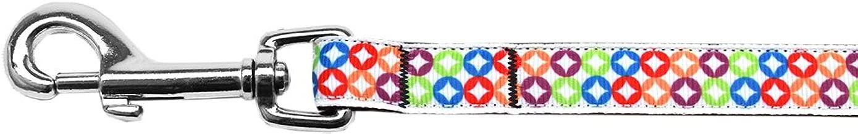 Mirage Pet Products Bright Diamonds Nylon Ribbon Leash 5/8 Inch Wide 4Ft