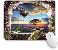 ZOMOY マウスパッド 個性的 おしゃれ 柔軟 かわいい ゴム製裏面 ゲーミングマウスパッド PC ノートパソコン オフィス用 デスクマット 滑り止め 耐久性が良い おもしろいパターン (ヨーロッパスタイルの孔雀美しい鳩パラシュートラベンダーガーデン)