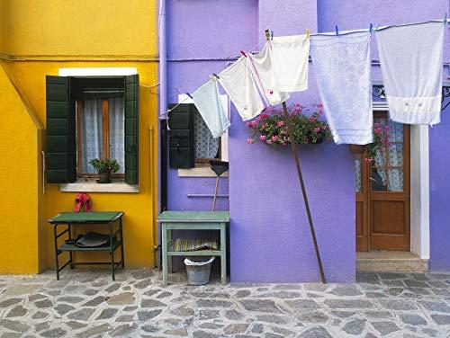 Posterazzi PDDEU16BJY0279 Italy, Burano. Colorful House Exterior Photo Print, 18 x 24, Multi