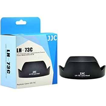 JJC LH-73C Lens Hood Shade for Canon EF-S 10-18mm f/4.5-5.6 is STM Lens Replaces EW-73C (Black)