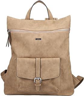 Rieker Damen H1079 Rucksack, beige, Normal