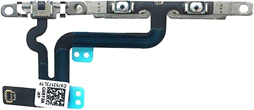 Johncase New OEM Volume Control Mute Button Switch Connector Flex Cable Replacement Repair Part with Bracket Pre-Installed for iPhone 6s Plus 5.5