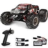【1:16 Super Fast RC Car】:This 4-wheel drive high-speed remote control truck is equipped with high-quality and durable components. It is powered by a strong 390 DC brush motor, which is fast, durable, and easy to control. This is faster than any simil...