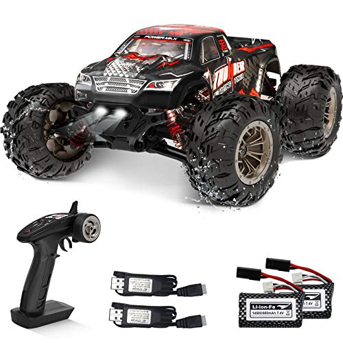 Remote Control Car 40KM/H High Speed RC Cars for Adults Monster Truck 1:16 4WD Off Road Rc Trucks 2.4GHz Racing Car Toy All Terrain Climbing Vehicle w/2 Rechargeable Batteries Toys/Gifts for Boys,Kids