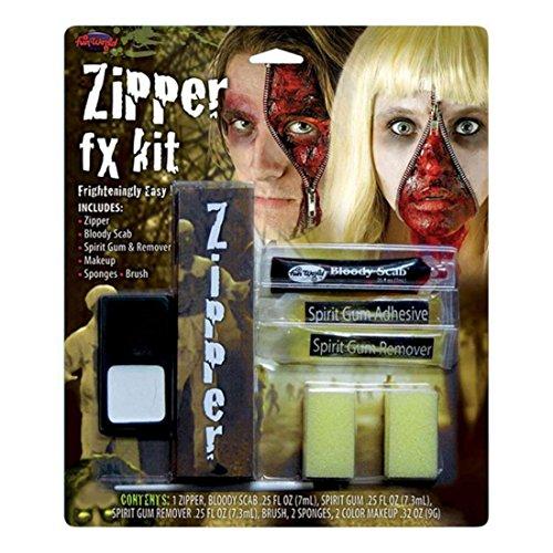 Fermeture éclair FX Kit Maquillage Costume Unisexe Halloween Accessoires Déguisement Horreur
