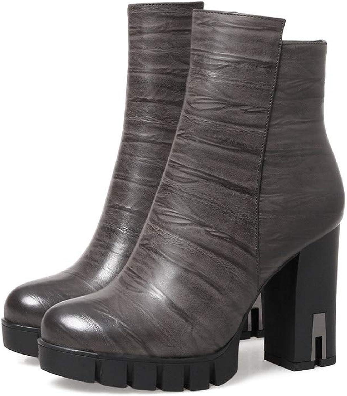 Stiefel-DEDE Stiefel  Wasserdichte Plattformstiefel  Europische und amerikanische Wind Martin StiefelDicke Damen mit Stiefeletten