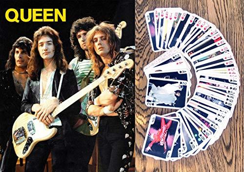 Queen Kartenspielen (Poker Deck 54 Karten alle verschieden) Queen Rock Band Freddie Mercury Robert Taylor Brian May Vintage Photo Poster