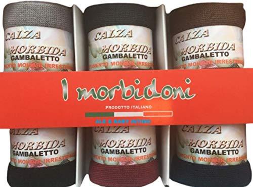 Calzificio Mirella 6 PAIA CALZE LUNGHE CALZINI INVERNALI DONNA LANA SOFT CALDE (TAGLIA UNICA, 6 PAIA COLORI SCURI)