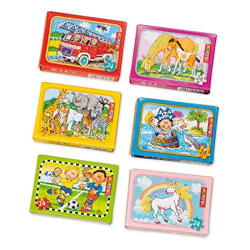 Lutz Mauder - Puzzle Set mit 6 Mini-Puzzles - 3 Mädchen- und 3 Jungenmotive