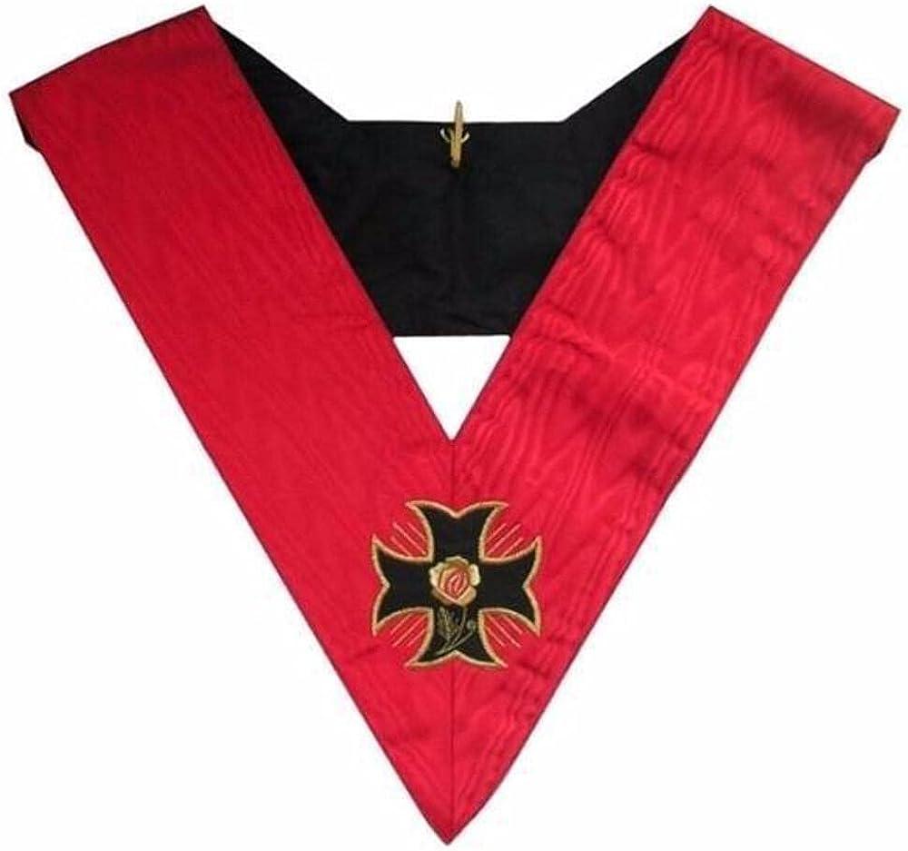 Masonic Officer's collar - AASR - 18th degree - Knight Rose Croix - Croix pattée