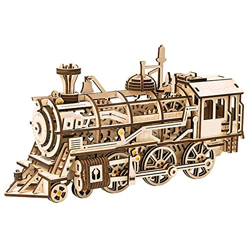 3D Houten Puzzel - Houten locomotiefmodellen, Mechanisch zelfbouwmodel - Breinbreker, Kerstverjaardagsgeschenken voor tieners en volwassenen