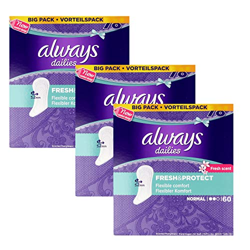 Always Dailies Fresh and Protect Normal Panty Liners 3 x 60 Value P