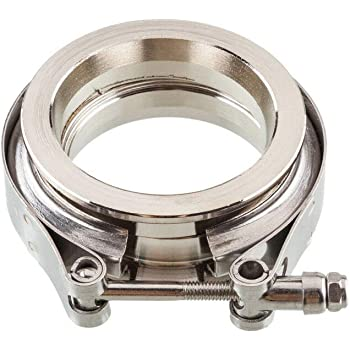 """5/"""" Stainless V-Band Flange and Clamp Set Male//Female"""