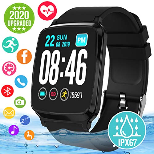 Smart Watch, Smartwatch for Android Phones, Waterproof Fitness Watch with Heart Rate Sleep Monitor Sport Fitness Activity Tracker Watch with Pedometer Calorie Compatible for Samsung iOS Women Men