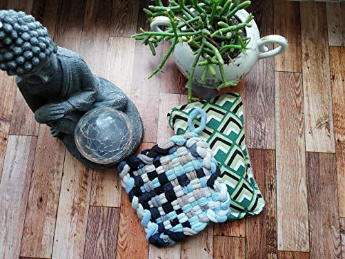 KIT Tawashi+lavette grattante rembourée, éponge réutilisable, éponge vaisselle lavable, zéro déchet, ménage